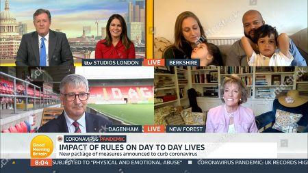 Piers Morgan, Susanna Reid, Felicity Challis, Leon Davies, Steve Thompson and Dame Esther Rantzen