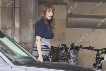 Stock Picture of Labour Party deputy Leader Angela Rayner walks in The Houses of Parliament.