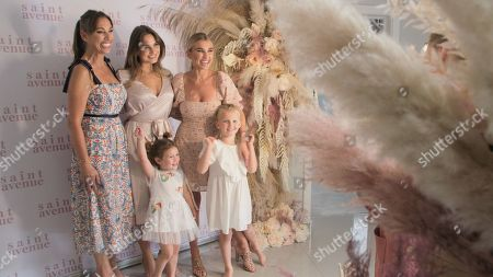 Mum Sue, Sam Faiers, Billie Faiers with Nelly and Rosie.