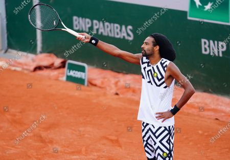 Stock Picture of Dustin Brown of Germany reacts during his 2nd round qualifying win