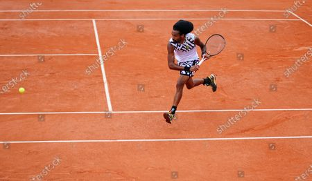 Stock Image of Dustin Brown of Germany in action during his 2nd round qualifying win