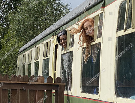 (l-r) Alison Hammond versus Josie Gibson  In Scotland Josie takes Alison to a train carriage that had been converted into a getaway