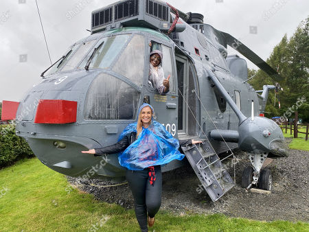 (top) Alison Hammond versus Josie Gibson  In Scotland Alison tries to get one up on Josie by by taking her to a retired military helicopter!