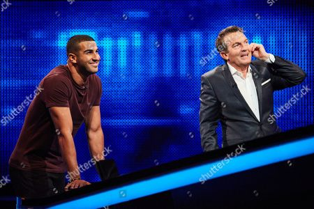 Stock Picture of Adam Gemili and Bradley Walsh