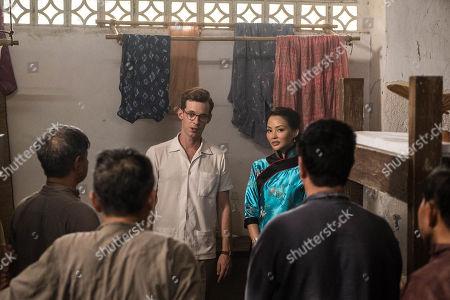 Elizabeth Tan as Vera Chang and Luke Treadaway as Matthew Webb.