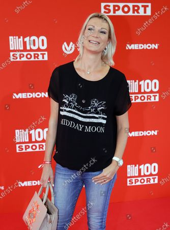 Retired German alpine skiier Maria Hoefl-Riesch poses on the red carpet during 'Bild100 Sport' in Frankfurt am Main, Germany, 23 September 2020. The event invites 100 of the most important and influential German and international personalities of politics, economics and sport.