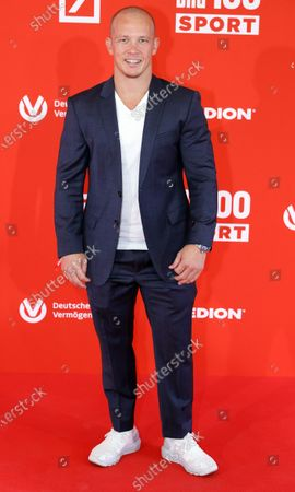 Stock Photo of German former gymnast Fabian Hambuechen on the red carpet of 'Bild100 Sport' in Frankfurt am Main, Germany, 23 September 2020. The event invites 100 of the most important and influential German and international personalities of politics, economics and sport.