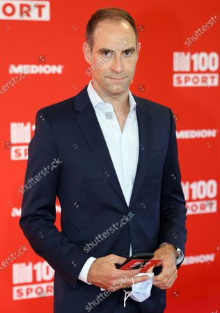 RB Leipzig's general manager Oliver Mintzlaff poses on the red carpet during 'Bild100 Sport' in Frankfurt am Main, Germany, 23 September 2020. The event invites 100 of the most important and influential German and international personalities of politics, economics and sport.