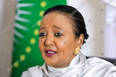 Stock Picture of Kenyan Sports Minister and Kenya's candidate for World Trade Organisation (WTO) Director-General Amina Mohamed during an interview with EFE, at her office in Nairobi, Kenya, 16 September 2020 (issued 23 September 2020). On 18 September 2020, Mohamed qualified for the next round in the race to head the WTO.