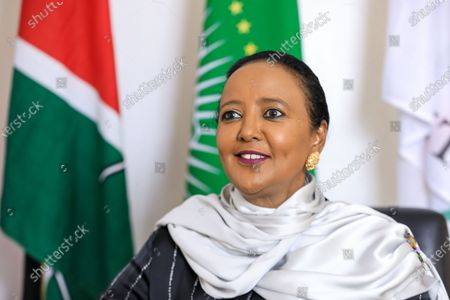 Stock Image of Kenyan Sports Minister and Kenya's candidate for World Trade Organisation (WTO) Director-General Amina Mohamed during an interview with EFE, at her office in Nairobi, Kenya, 16 September 2020 (issued 23 September 2020). On 18 September 2020, Mohamed qualified for the next round in the race to head the WTO.