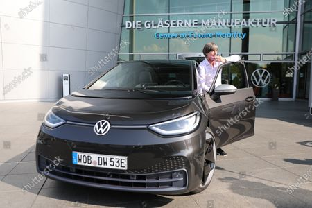 Editorial image of DFB head coach Jogi Loew with a new VW ID.3, Dresden, Germany - 23 Sep 2020
