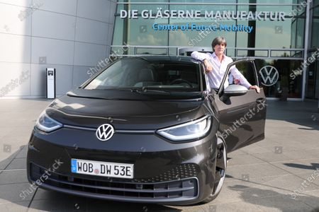 Editorial picture of DFB head coach Jogi Loew with a new VW ID.3, Dresden, Germany - 23 Sep 2020