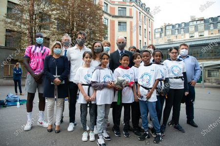On the occasion of the International Day of School Sport, Jean-Michel Blanquer, Roxana Maracineanu and Tony Estanguet went to Lycee Claude Bernard.