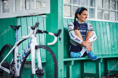 Portrait of English professional track and road racing cyclist Lizzie Armitstead, photographed in Harrogate, North Yorkshire, on June 17, 2019. (