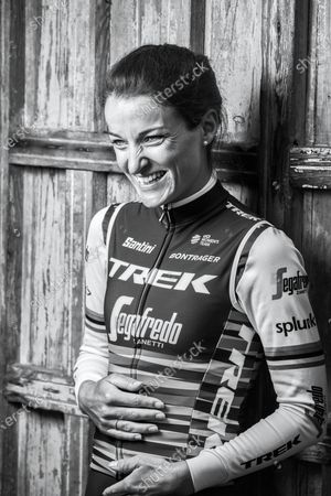Stock Image of Portrait of English professional track and road racing cyclist Lizzie Armitstead, photographed in Harrogate, North Yorkshire, on June 17, 2019.