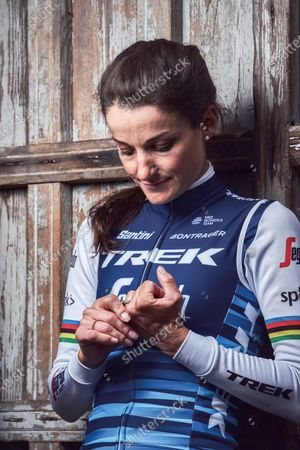 Portrait of English professional track and road racing cyclist Lizzie Armitstead, photographed in Harrogate, North Yorkshire, on June 17, 2019.