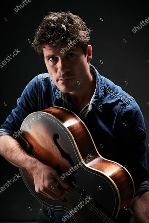 Stock Image of Portrait of English folk musician Seth Lakeman, photographed in Bath, England, on November 20, 2019.