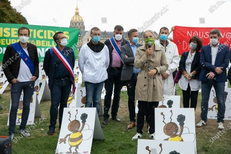 Editorial image of Neonicotinoides, collective action, Esplanade des Invalides, Paris, France - 23 Sep 2020
