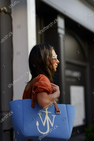 Editorial photo of Street Style, Spring Summer 2021, London Fashion Week, UK - 18 Sep 2020