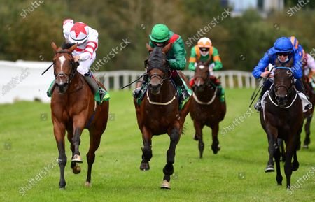 LISTOWEL 24-September-2020. BARON SAMEDI and Dylan Browne McMonagle (left) win from BASHIYR (centre) and HALIMI (right) for trainer Joseph O'Brien.