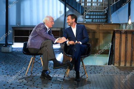 Yann Arthus-Bertrand and Bernard Montiel