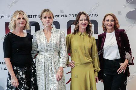 (L-R) Angela Finocchiaro, Claudia Gerini, Caterina Guzzanti, Paola Minaccioni