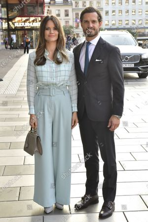Prince Carl Philip and Princess Sofia at theatre performance, Kulturhuset Stadsteatern
