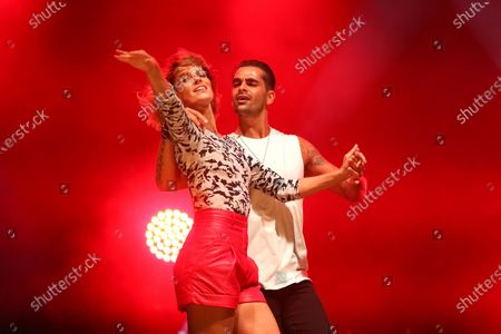 Fauve Hautot, Christophe Licata perform on stage during the BPI big tour at Hotel de Ville, Paris, France