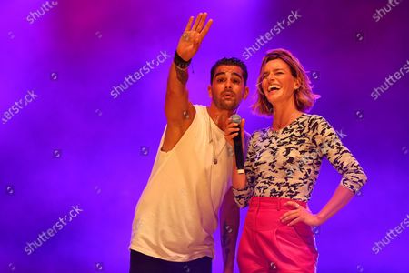 Christophe Licata, Fauve Hautot perform on stage during the BPI big tour at Hotel de Ville, Paris, France