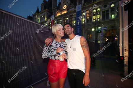 Katrina Patchett, Christophe Licata pose during the BPI big tour at Hotel de Ville, Paris, France