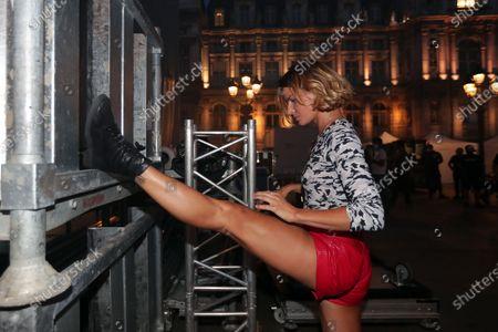 Fauve Hautot attends on backstage during the BPI big tour at Hotel de Ville, Paris, France