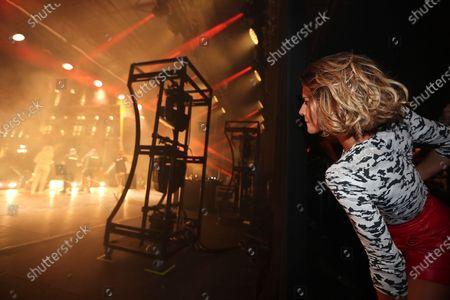 Fauve Hautot attends on stage during the BPI big tour at Hotel de Ville, Paris, France