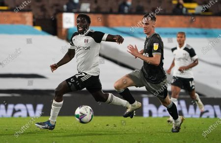 Stock Image of Aboubakar Kamara of Fulham and Ciaran Brennan of Sheffield Wednesday