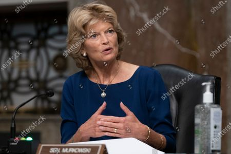 Sen. Lisa Murkowski, R-Alaska, questions witnesses during a Senate Senate Health, Education, Labor, and Pensions Committee Hearing on the federal government response to COVID-19 on Capitol Hill, in Washington