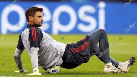 Bayern Munich's goalkeeper Sven Ulreich performs during his team's training session at the Puskas Arena in Budapest, Hungary, 23 September 2020. Champions League winner Bayern Munich will face Europa League winner Sevilla FC in the UEFA Super Cup match on 24 September 2020.