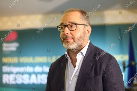 """Stock Image of French former Senator Rachid Temal looks on during the National Convention of the French Assotiation """"Nouvelle Societe"""" in Paris"""