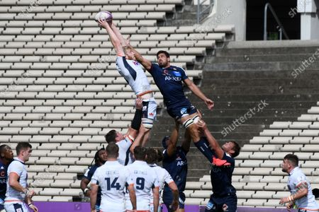 Editorial image of Rugby UBB v Edimbourg, Challenge Cup quarter final rugby match, Bordeaux, France - 19 Sep 2020
