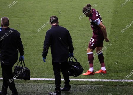 Jay Rodriguez of Burnley is substituted after suffering an injury in the first half during Millwall vs Burnley, Caraboa Cup Football at The Den on 23rd September 2020