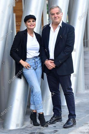 Simona Ventura and Ludovico Di Meo Raidue director