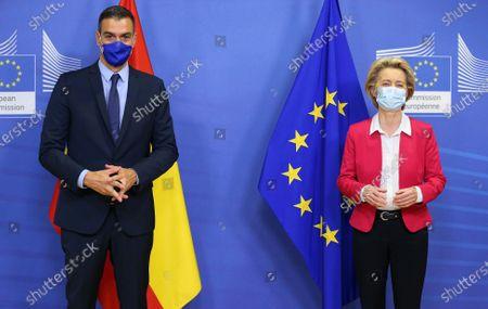 Ursula Von Der Leyen welcomes Pedro Sanchez, Brussels