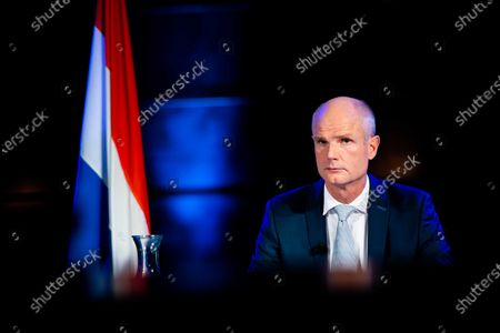 Dutch Minister of Foreign Affairs Stef Blok  during a virtual meeting on Syria in the context of the fight against impunity in The Hague, the Netherlands, on 23 September 2020. The Netherlands uses the UN General Assembly to lobby for support for a lawsuit against Syrian President Bashar al-Assad.