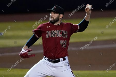 Arizona Diamondbacks starting pitcher Alex Young throws during the fourth inning of a baseball game against the Texas Rangers, in Phoenix
