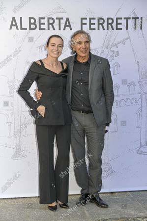 Stock Image of Stefania Rocca and Carlo Capasa
