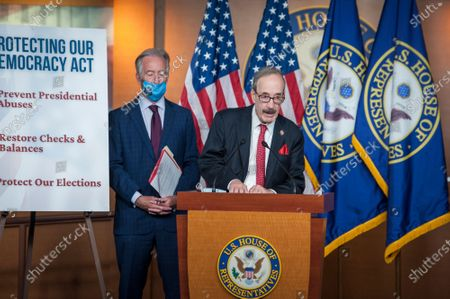 United States Representative Eliot Engel (Democrat of New York) offers remarks during a press conference on reforms package at the US Capitol in Washington, DC., Wednesday, September 23, 2020. At left is US Representative Richard Neal (Democrat of Massachusetts).