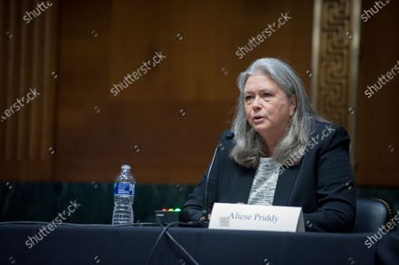 """Aliese """"Liesa"""" Priddy, Owner and Operator JB Ranch, appears before a Senate Committee on Environment and Public Works hearing to examine the Endangered Species Act Amendments of 2020, focusing on modernizing the Endangered Species Act in the Senate Dirksen Office Building on Capitol Hill in Washington, DC., Wednesday, September 23, 2020."""