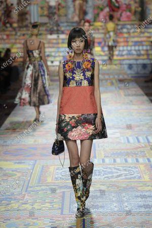 Editorial picture of Dolce & Gabbana show, Runway, Spring Summer 2021, Milan Fashion Week - 23 Sep 2020