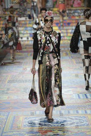 Editorial photo of Dolce & Gabbana show, Runway, Spring Summer 2021, Milan Fashion Week - 23 Sep 2020