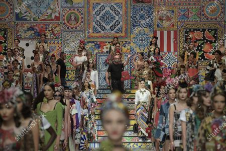 Domenico Dolce and Stefano Gabbana, models on the catwalk