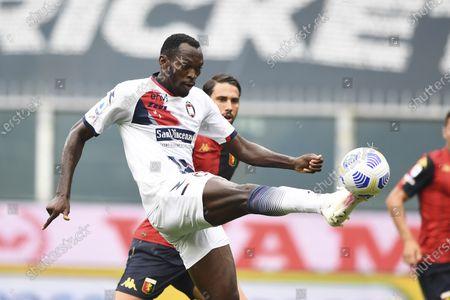 "Simy Simeon Tochukwu Nwankwo (Crotone)          during the Italian "" Serie A"" match between  Genoa 4-1 Crotone  at  Luigi Ferraris Stadium  on September 20 , 2020 in Genova, Italy."