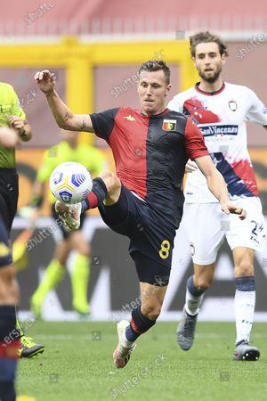 "Lukas Reiff Lerager (Genoa)           during the Italian "" Serie A"" match between  Genoa 4-1 Crotone  at  Luigi Ferraris Stadium  on September 20 , 2020 in Genova, Italy."